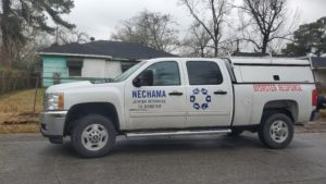NECHAMA truck in Texas