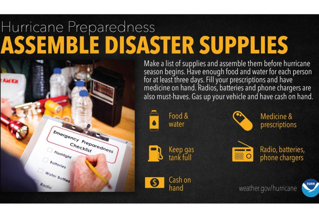 Hurricane Preparedness Week 2021- Build a disaster supply kit