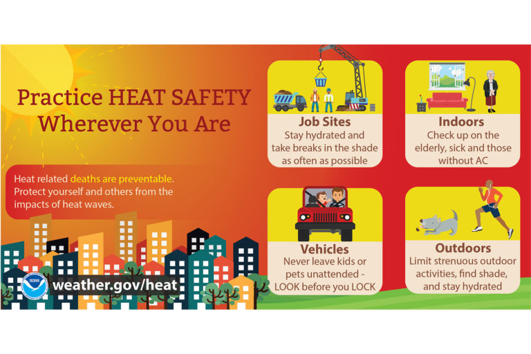 Heat Safety: Stay Safe in the Heat infographic