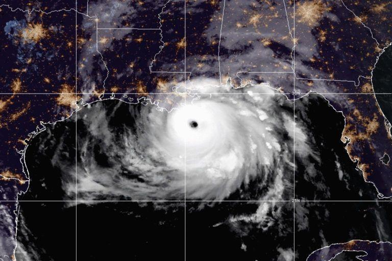 Hurricane Ida satalite image