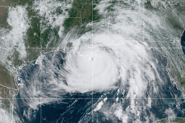 Hurricane Ida nears land